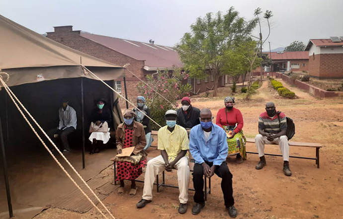 Pitching tents to fight coronavirus