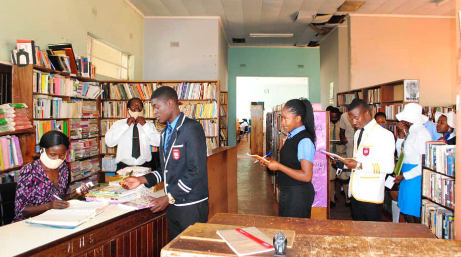 Church school's library restocked after fire